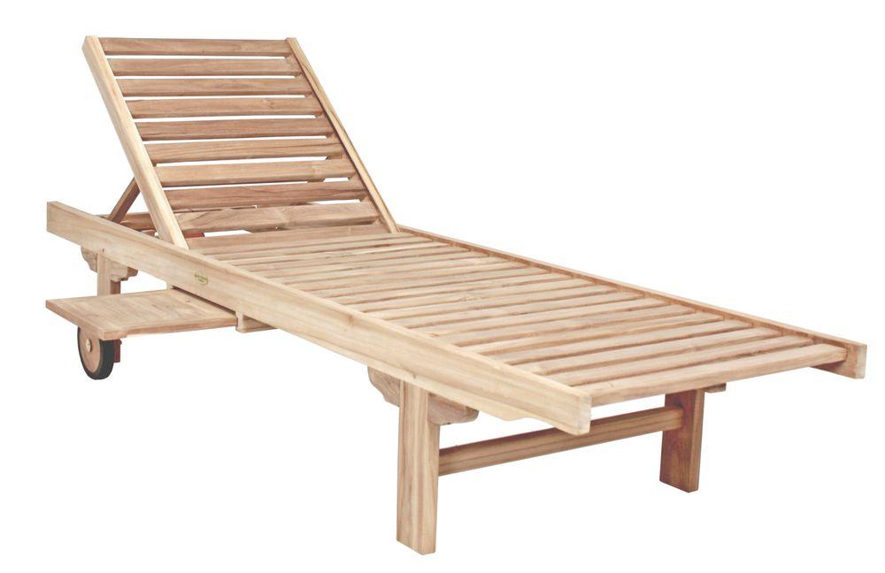 Bänke und Liegen - Sonnenliege SOLO mit Ablagebord  - Onlineshop ETC Shop