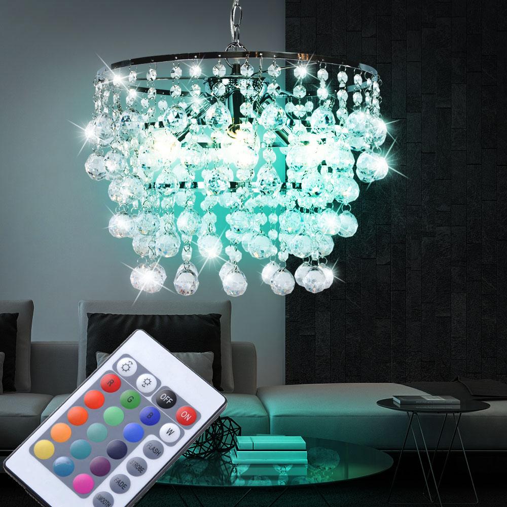 rgb led pendelleuchte f r den wohnraum mit kristallen london unsichtbar lampen m bel. Black Bedroom Furniture Sets. Home Design Ideas