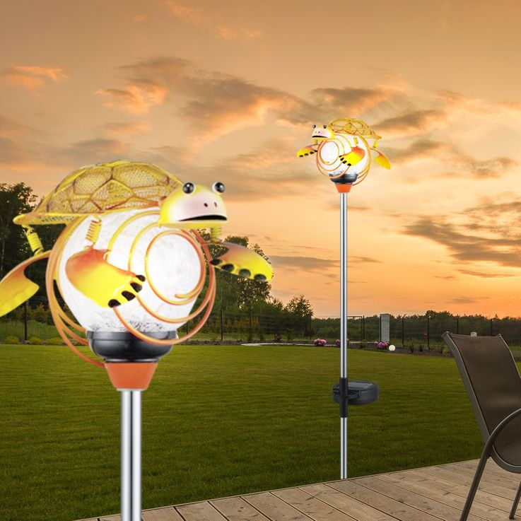 2 set LED solar light and Solar outdoor thermometer – Bild 4