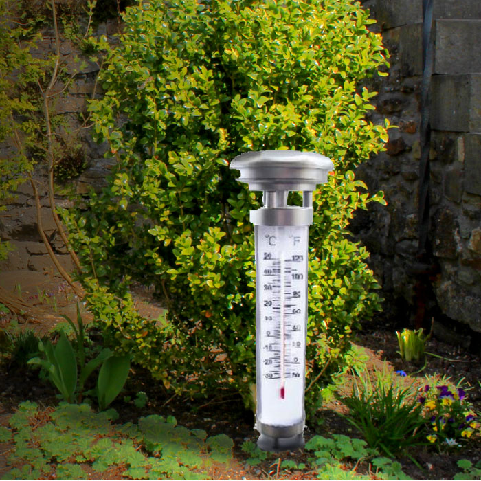 2 set LED solar light and Solar outdoor thermometer – Bild 3