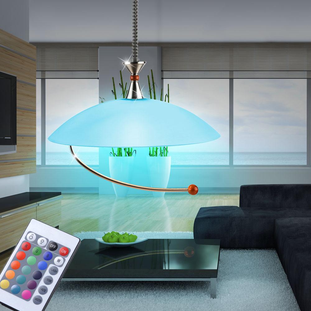 rgb led h nge decken leuchte esszimmer lampe dimmer verstellbar fernbedienung ebay. Black Bedroom Furniture Sets. Home Design Ideas