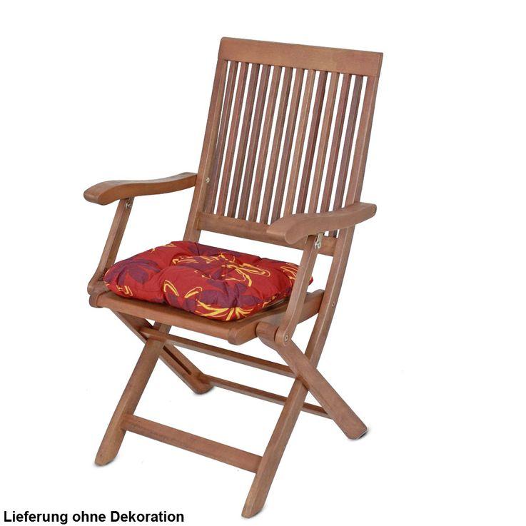 4er Set Sitz Kissen Blumen Flockenfüllung Stuhl Polster Baumwolle Polyester Auflagen Blüten – Bild 3