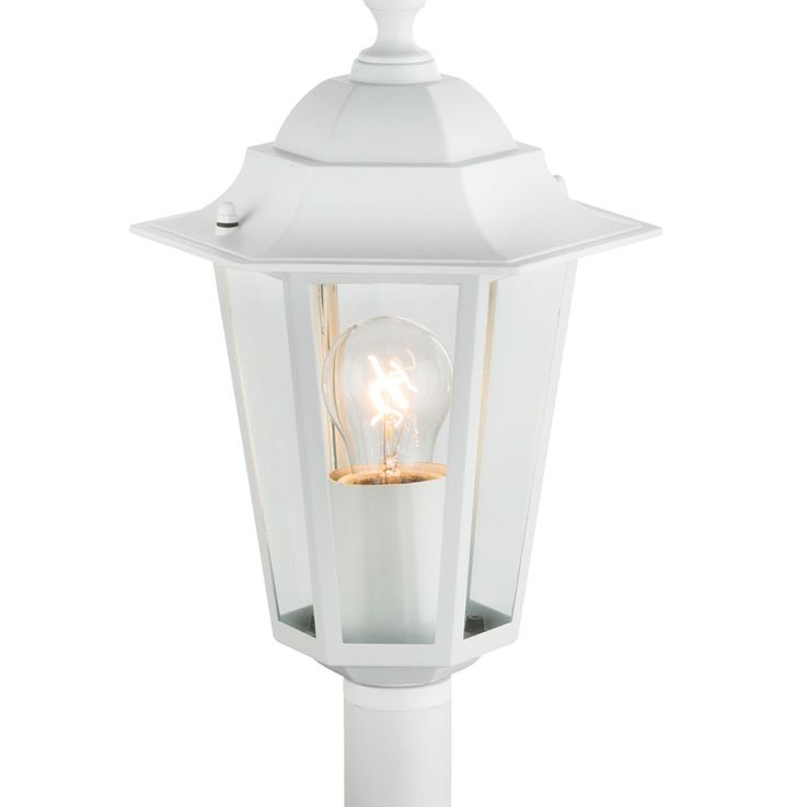 Standing lamp garden way lighting aluminum lantern terraces glass lamp white Globo 31873 – Bild 5