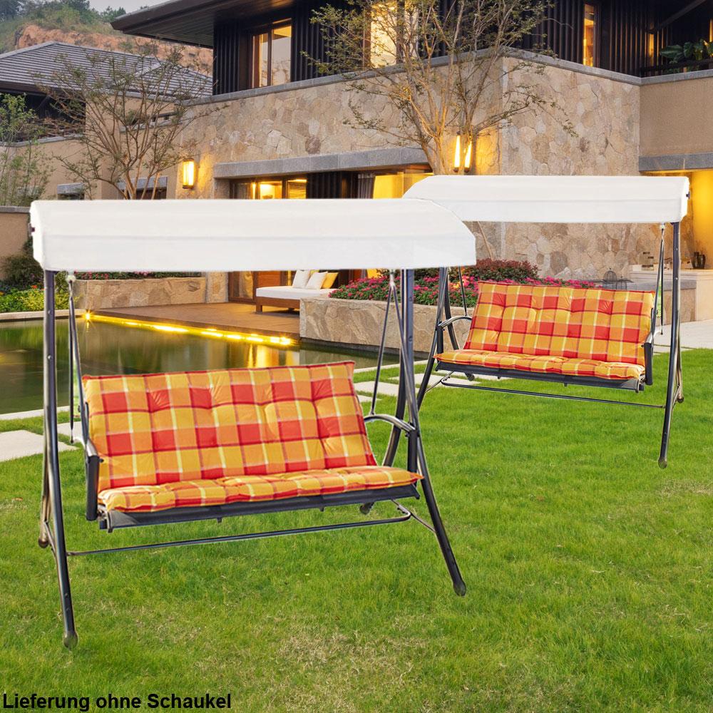 2er set hollywoodschaukel auflagen f r ihren garten garten freizeit gartenm bel h nge. Black Bedroom Furniture Sets. Home Design Ideas