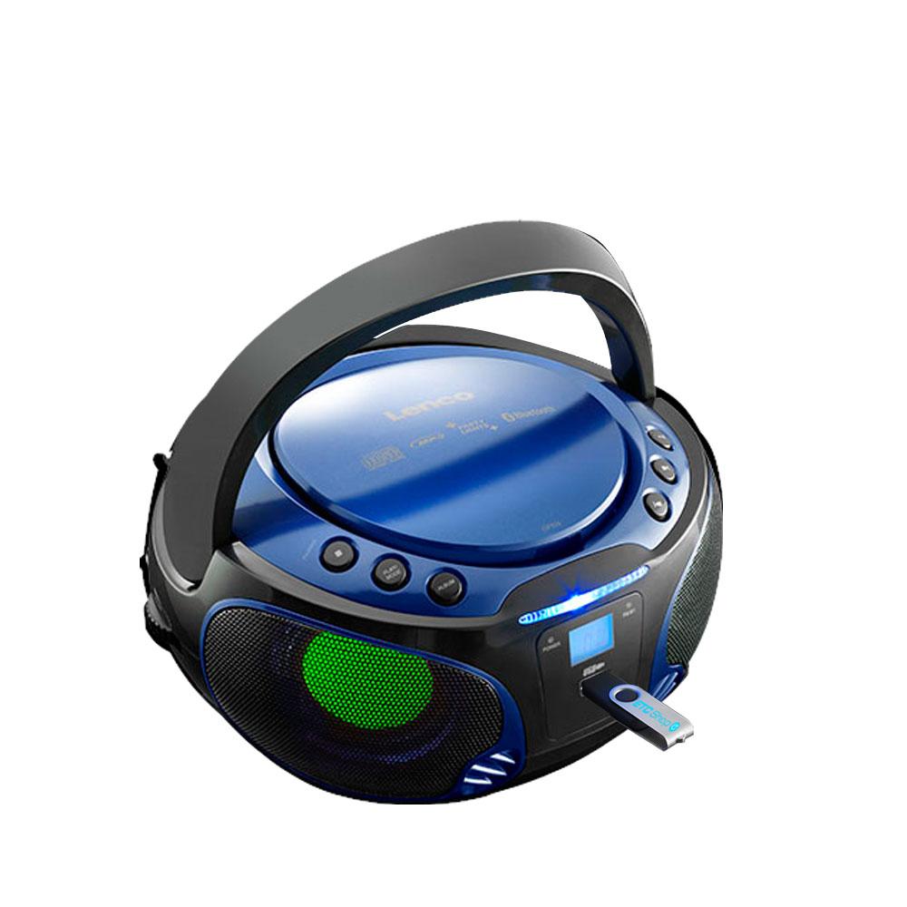 boombox stereoanlage mit cd player und lichteffekt audio. Black Bedroom Furniture Sets. Home Design Ideas