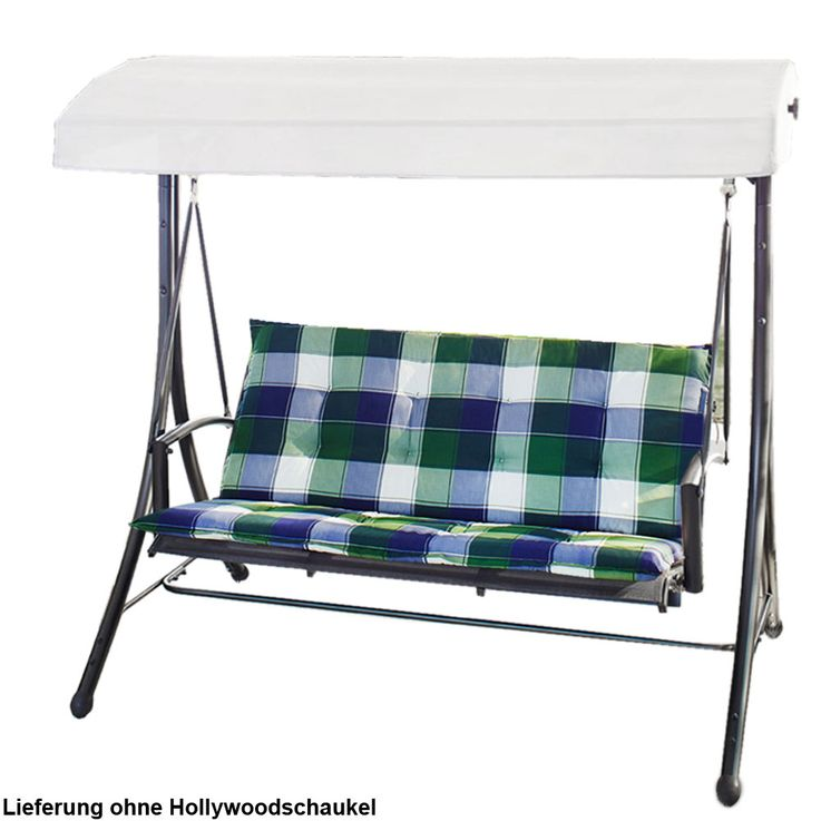 Hollywood swing editions 2 piece checkered garden furniture chair seat cushion pad – Bild 6