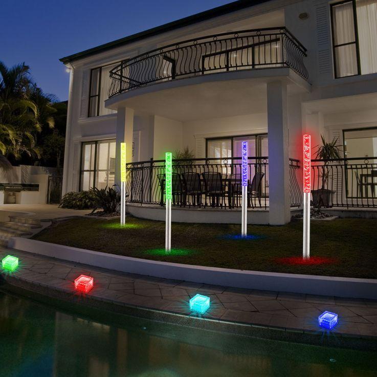 8er Set LED Solarleuchten für den Außenbereich mit Farbwechsler – Bild 2