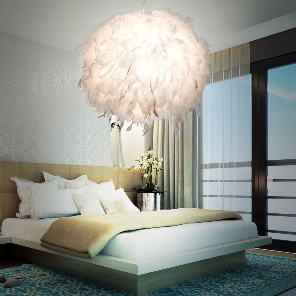 Boule De Plume A Suspendre détails sur contrôle lampe pendentif plume rgb led salon à distance boule  lumière dimmable