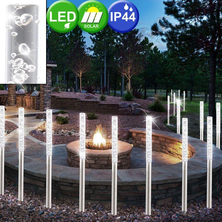 12er Set LED Solarleuchten für den Außenbereich – Bild 3