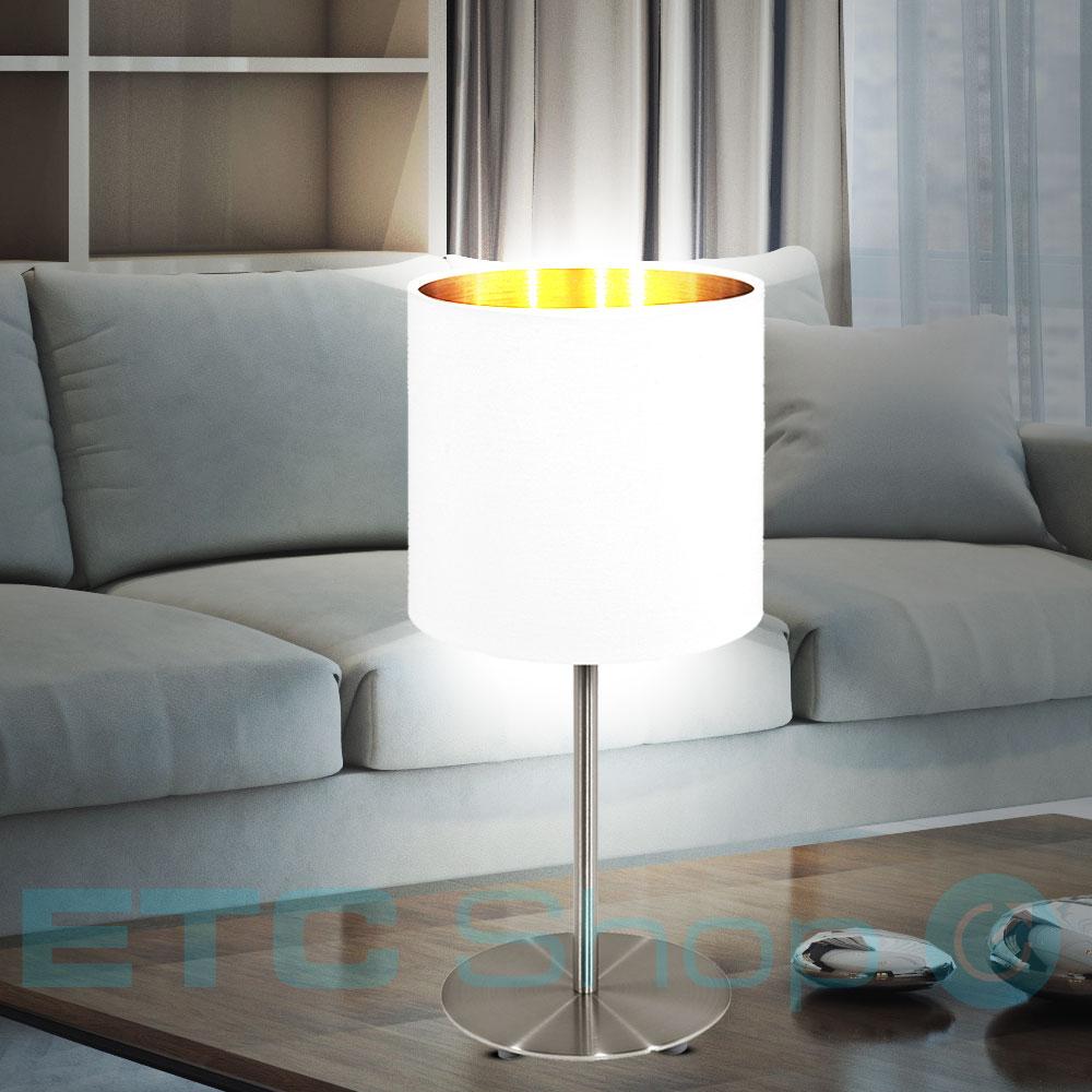tischleuchte mit textilschirm f r ihren wohnraum pasteri lampen m bel r ume wohnzimmer. Black Bedroom Furniture Sets. Home Design Ideas