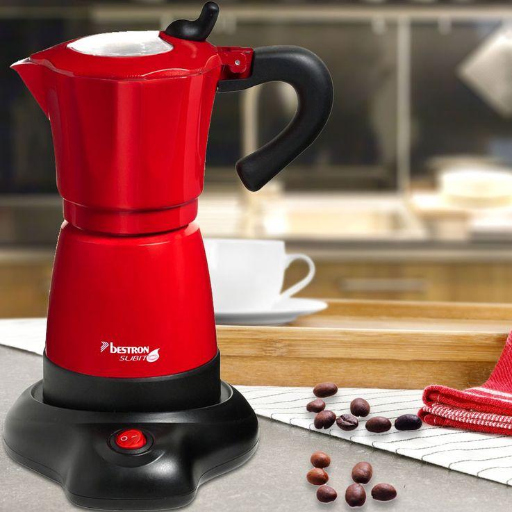 Espressomaschine für Espresso und Mokka Bestron AES 480 – Bild 2