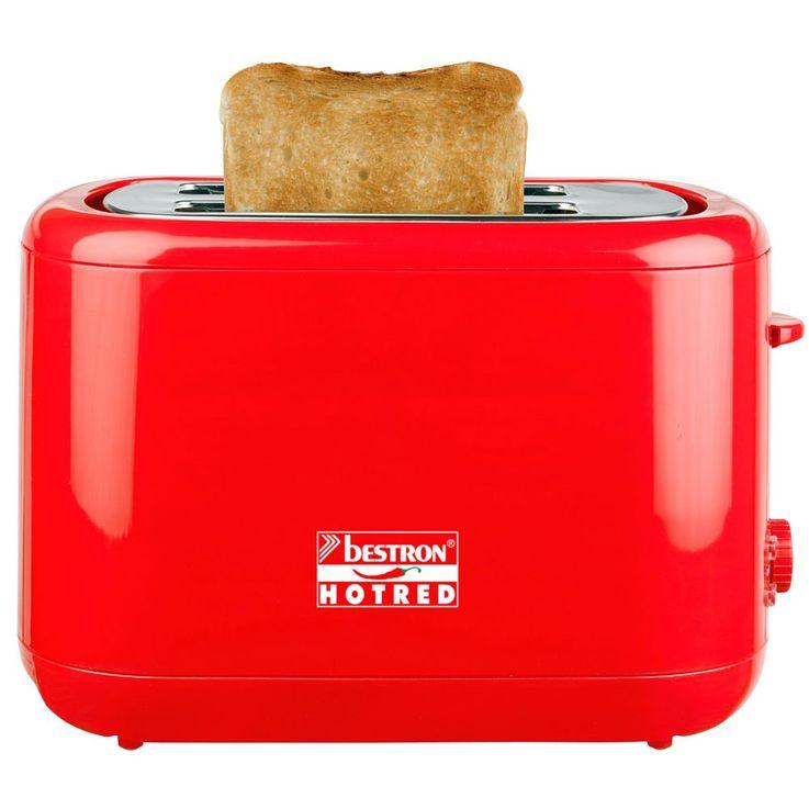 2 Scheiben Toaster in rot mit Brötchenaufsatz – Bild 3