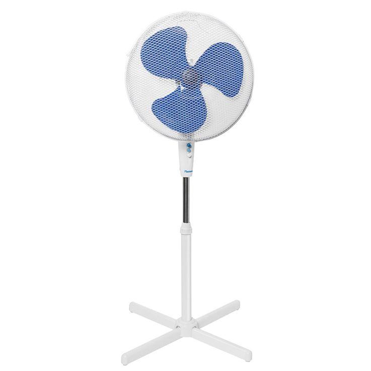 Powerful standing fan 45 Watt room cooler fan white height adjustable Bestron ASV45W – Bild 1