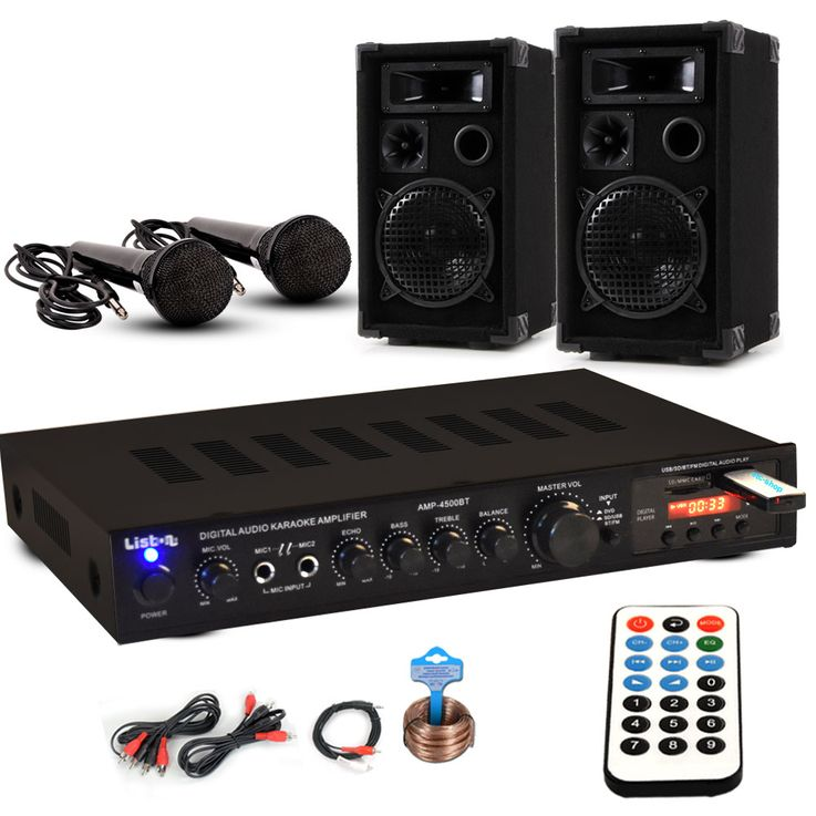 PA parti PA Stereo Compact boîtes Bluetooth USB SD MP3 amplificateur câble DJ-Partystar – Bild 1