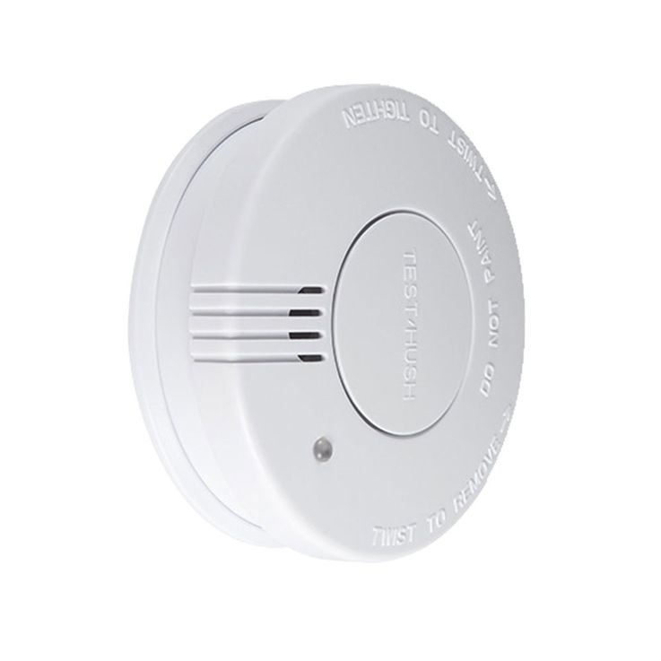Set of 2 smoke detectors alarm sirens white fire sensors wireless battery blaze warner – Bild 4