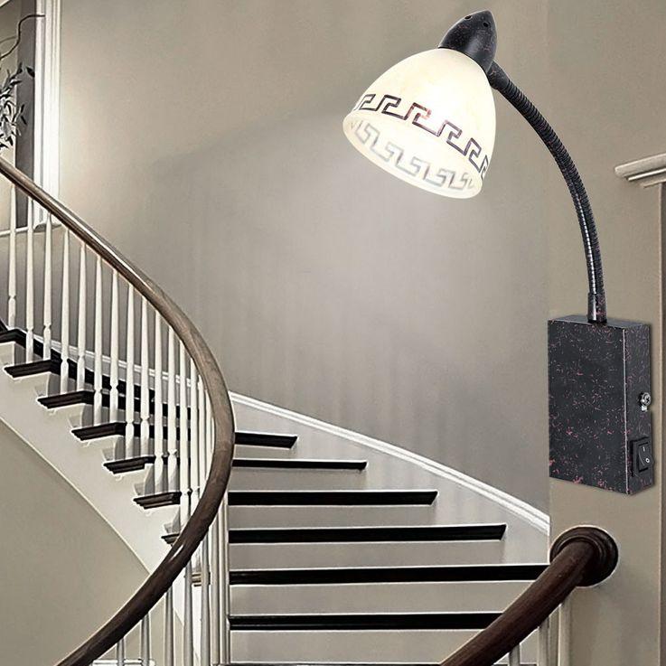 LED lampe murale de style rustique pour le salon – Bild 3
