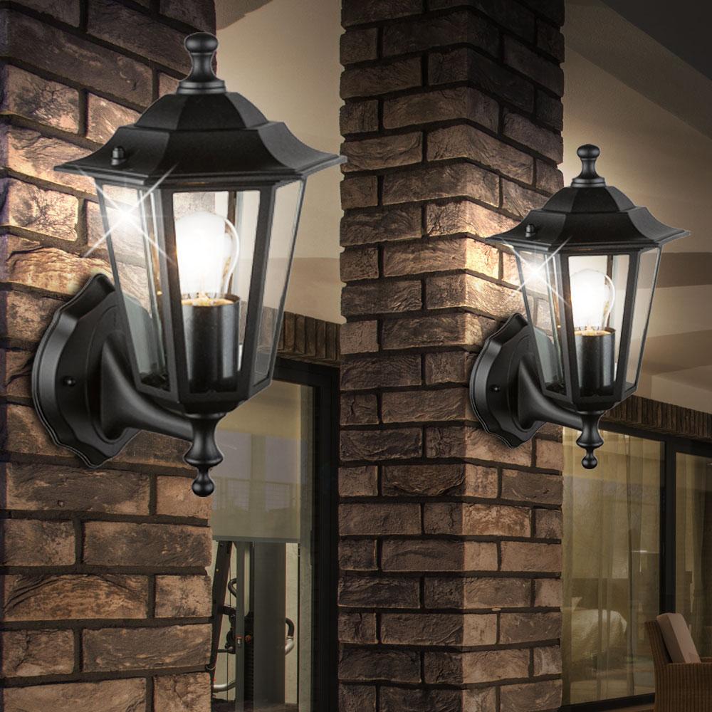 led wandleuchte in schwarz f r ihren au enbereich unsichtbar lampen m bel au enleuchten. Black Bedroom Furniture Sets. Home Design Ideas