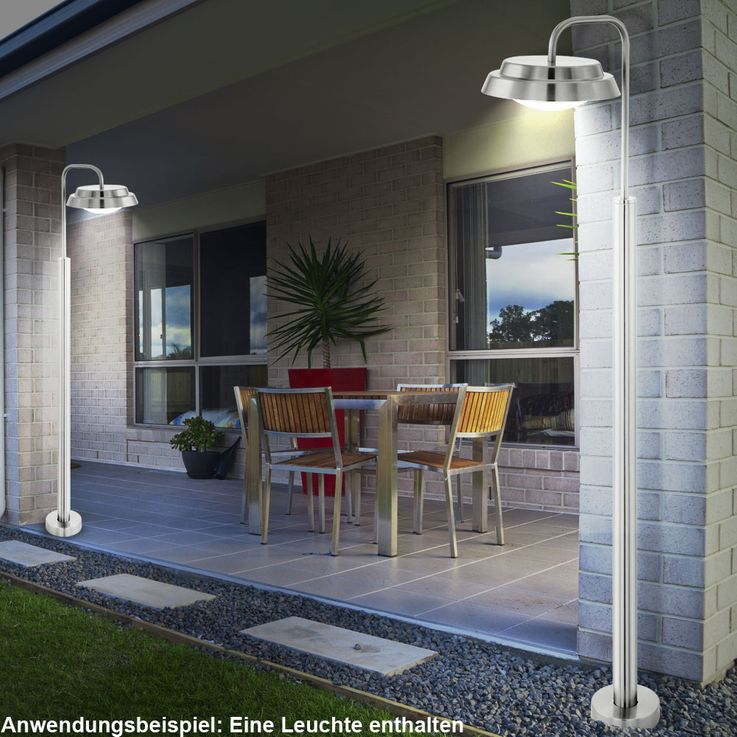 Design LED Outdoor floor lamp Stainless steel Floor lamp Garden lamp EEK A Eglo 94123 – Bild 2