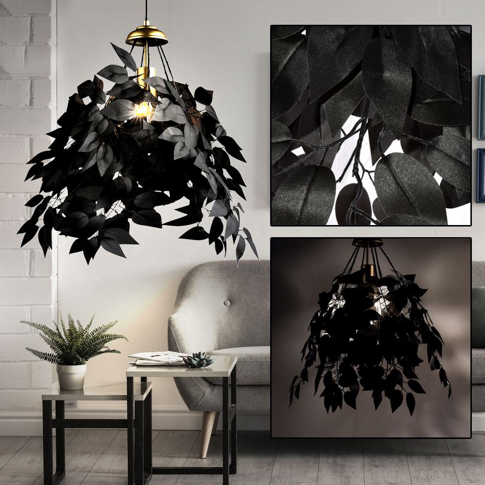 Pendel Hänge Leuchten Blätter steckbar Decken Lampen Gold Schwarz Weiß Silber