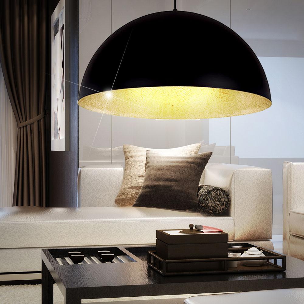 luxus led h ngelampe in schwarz gold f r den wohnraum unsichtbar lampen m bel innenleuchten. Black Bedroom Furniture Sets. Home Design Ideas