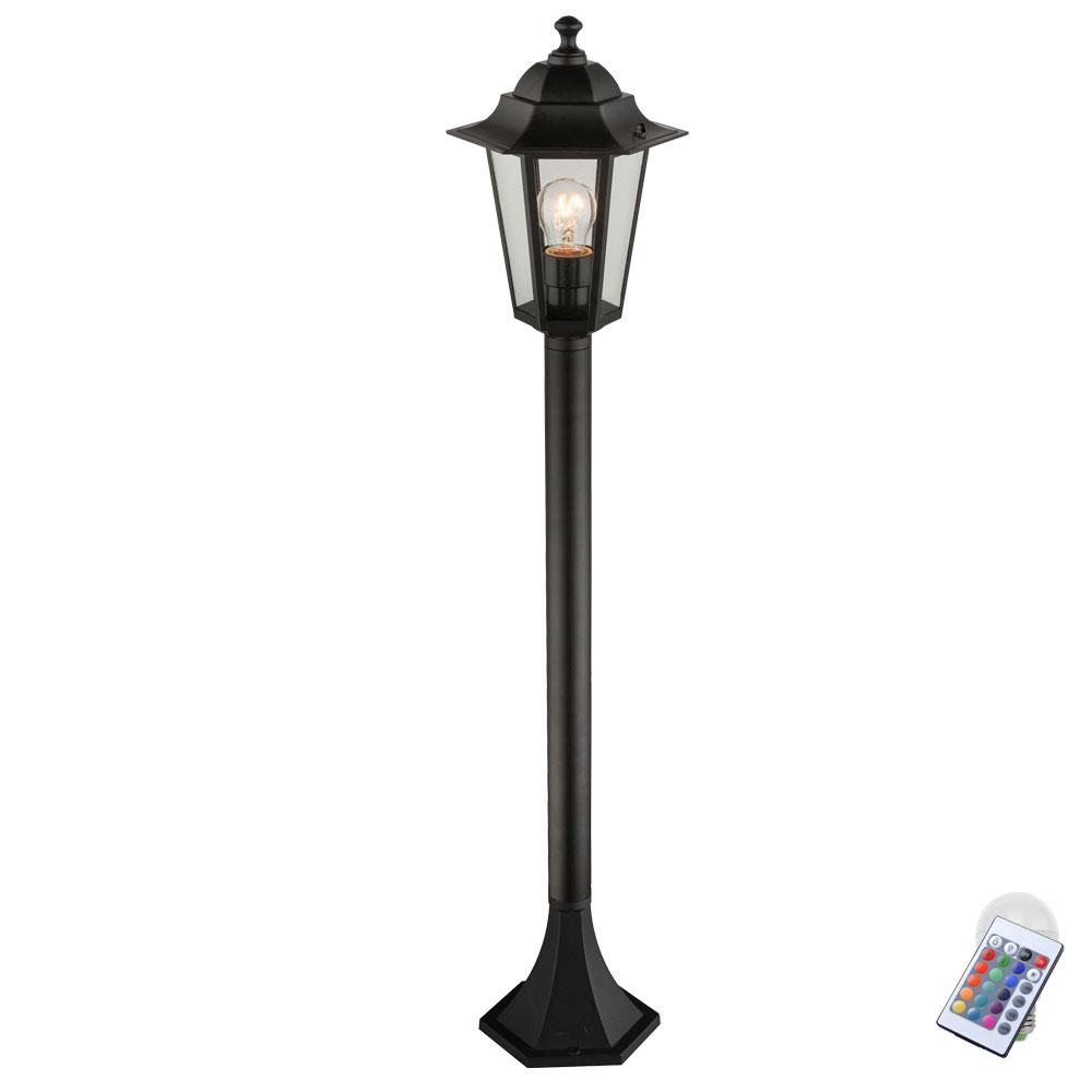 RGB LED Outdoor Garden Lamp Pedestal Standing Light Remote ...