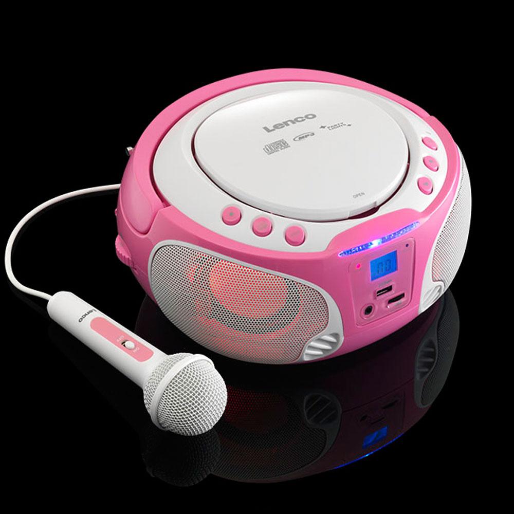 stereoanlage mit cd player und lichteffekt sowie sticker. Black Bedroom Furniture Sets. Home Design Ideas