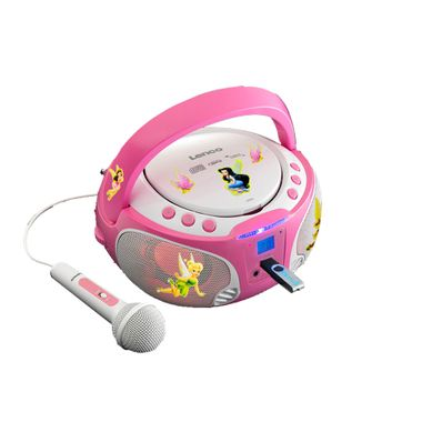 Girl Karaoke Stereo System Microphone USB CD Player Child Light Effect Set Including Fairies Sticker – Bild 1