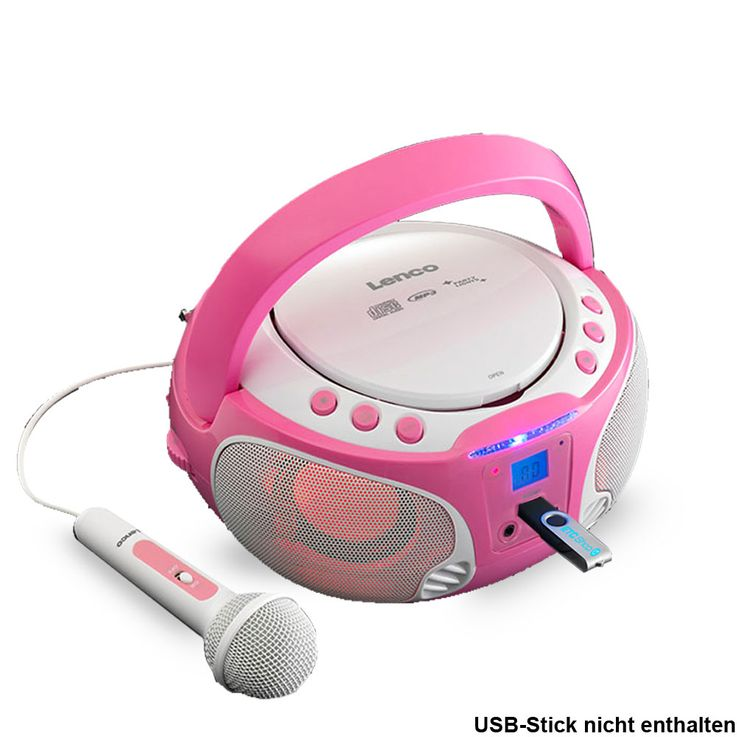 Girl Karaoke Stereo System Microphone USB CD Player Child Light Effect Set Including Fairies Sticker – Bild 3