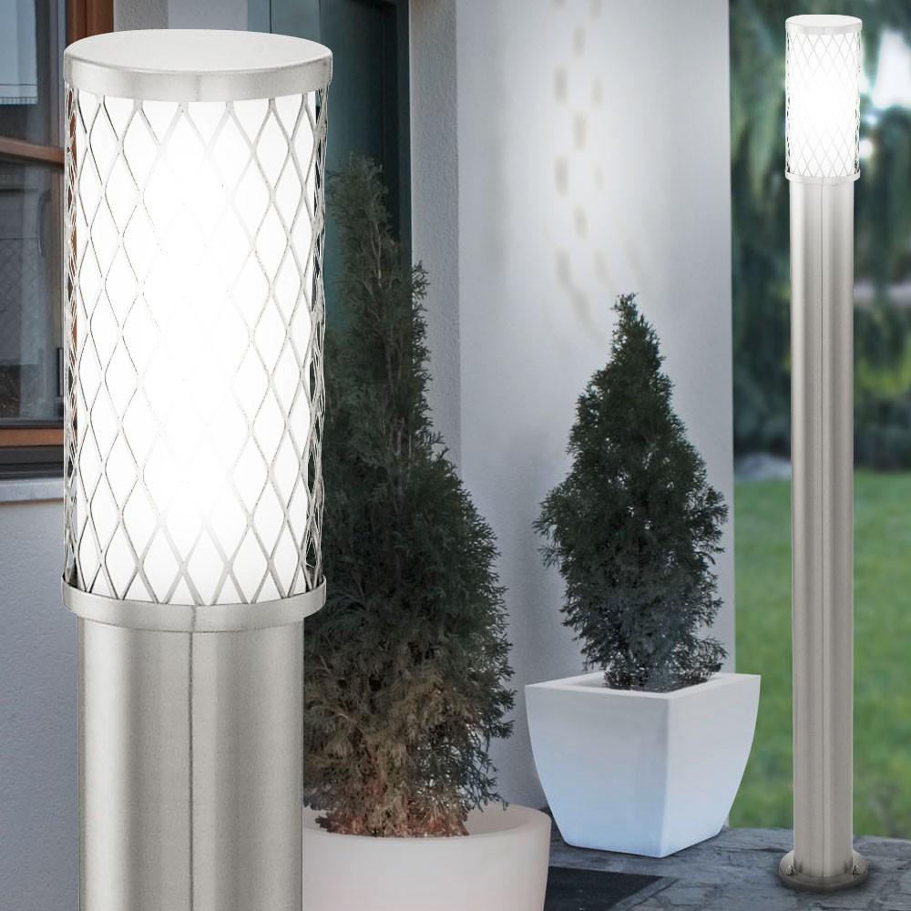 2er set edelstahl stehleuchten f r den au enbereich unsichtbar lampen m bel au enleuchten. Black Bedroom Furniture Sets. Home Design Ideas