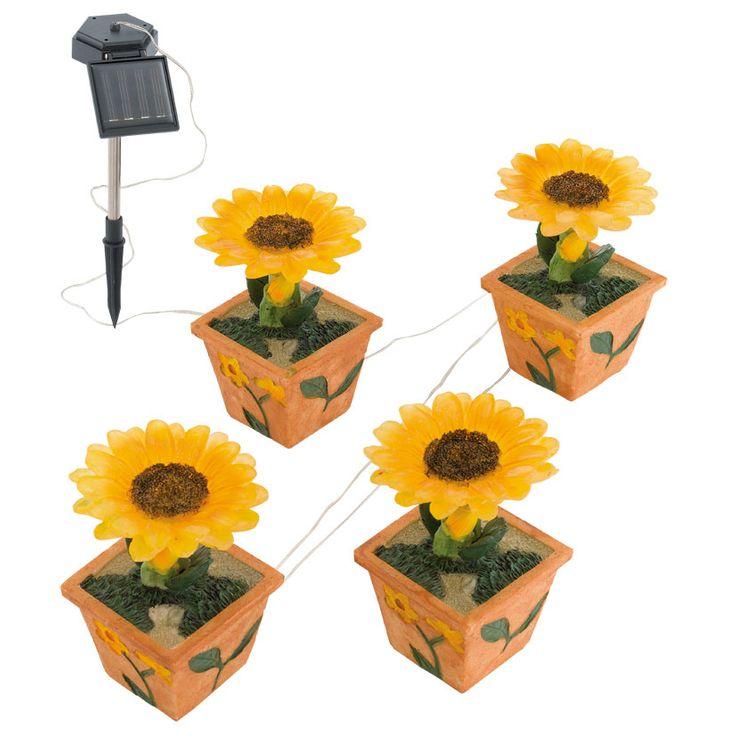 10er Set LED Solarleuchten im Blumen Design für den Garten – Bild 10
