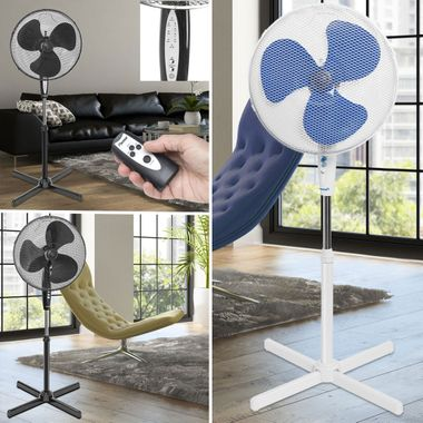 Stand fans rotatable Fan Air freshener height adjustable white black Remote control – Bild 2