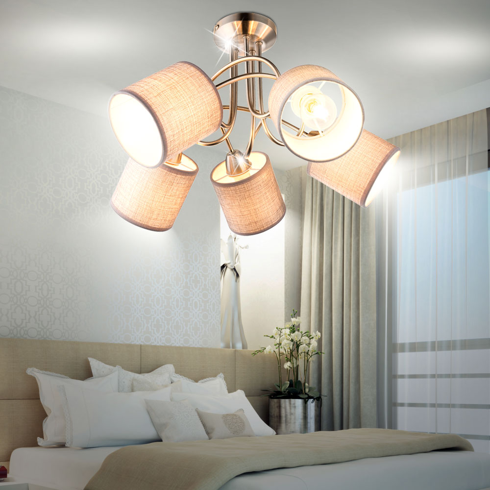 LED ceiling spotlights for your four walls made of fabric PACO