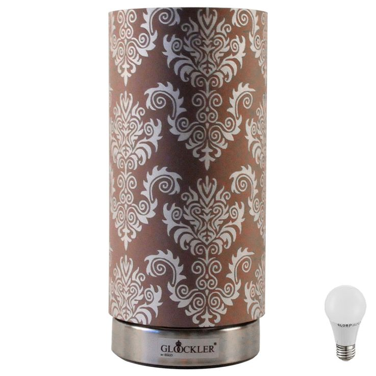 LED table lamp with taupe and silver – Bild 1