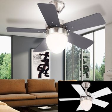 Ceiling fans remote control pull switch fan lights dimmable 3 stages heater cooler – Bild 3