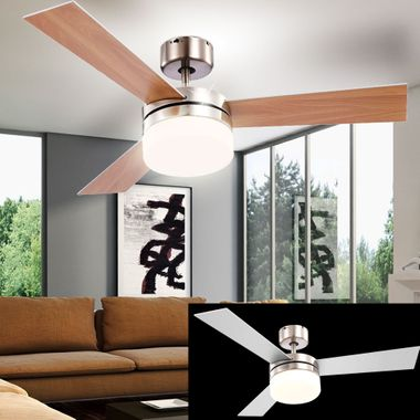 Ceiling fans remote control pull switch fan lights dimmable 3 stages heater cooler – Bild 4