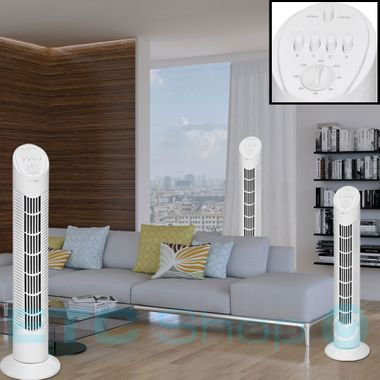 50 Watt Tower Stand Fan Column Cooler Air Freshener 4 step timer Clatronic T-VL 3546 – Bild 3