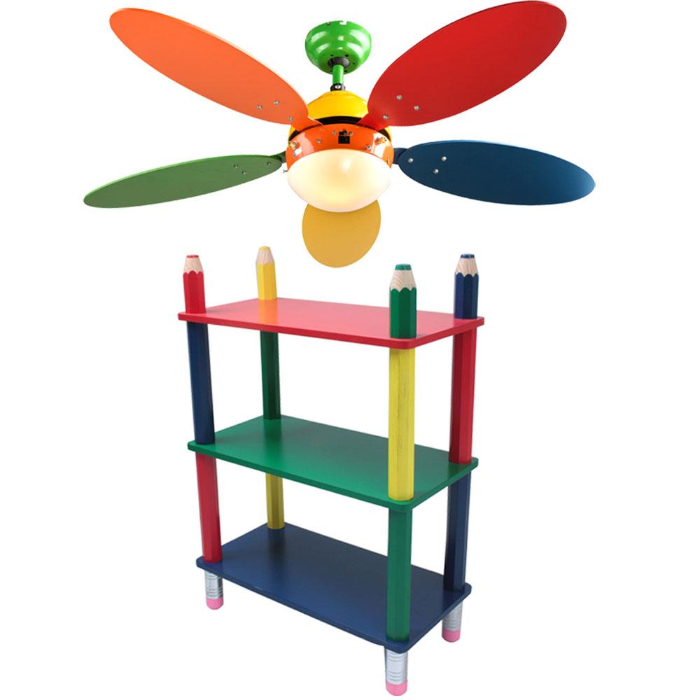 farbenfroher rauml fter holzschrank stiftoptik kinderzimmer set deckenlampe 4059157034471 ebay. Black Bedroom Furniture Sets. Home Design Ideas