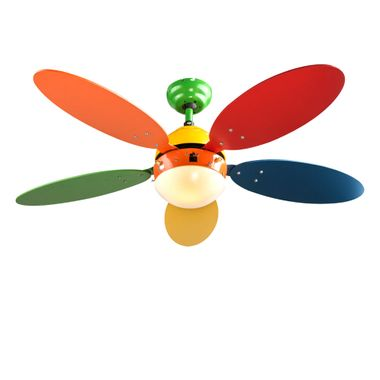 Children furniture set standing shelf solid wood ceiling fan switchable playroom lighting colorful – Bild 7