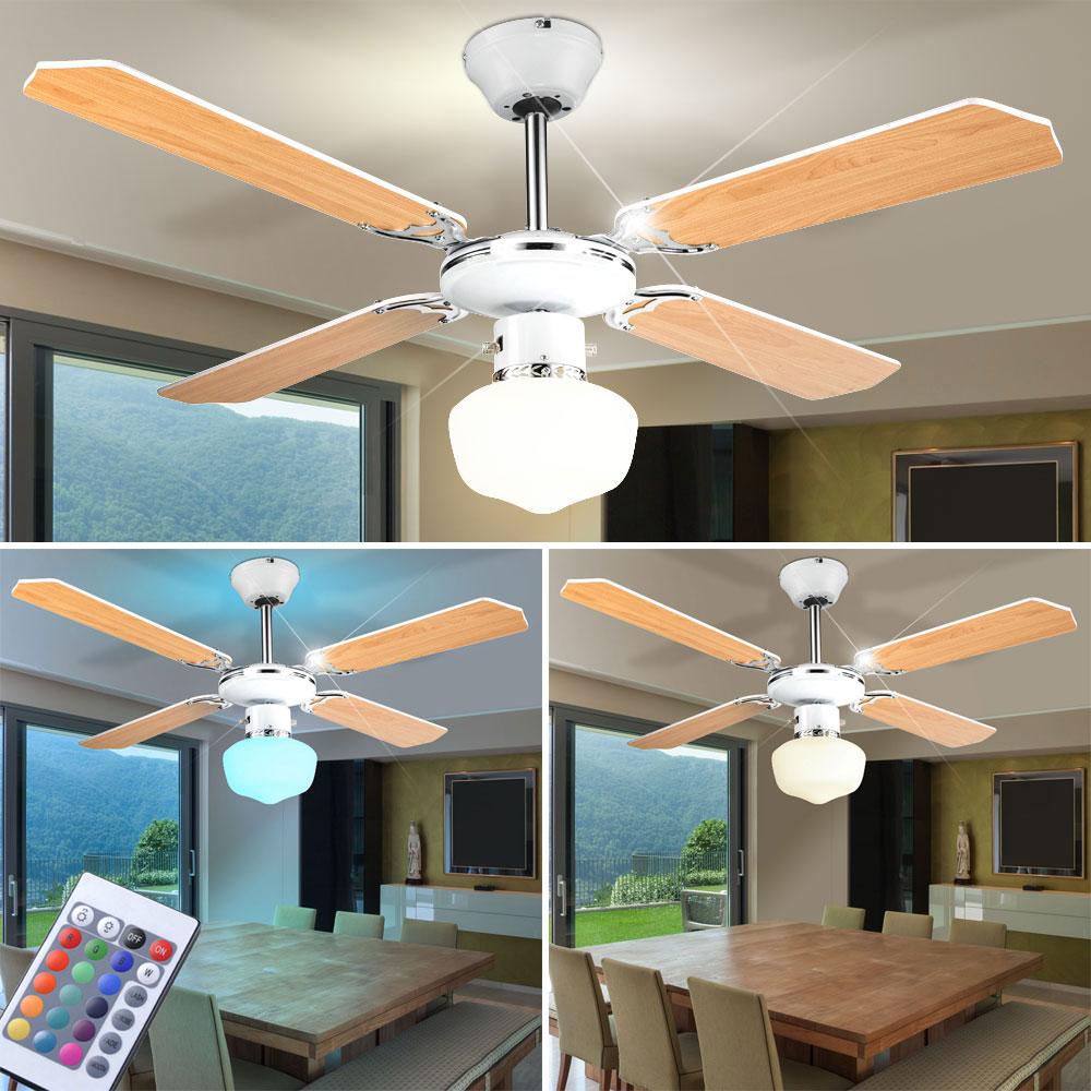 led ventilateur de plafond salon manger chambre. Black Bedroom Furniture Sets. Home Design Ideas