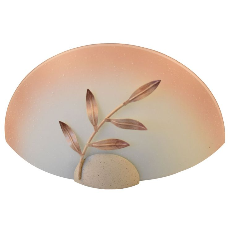 Wall lamp Glass spotlight Living room flooring Lighting beige Leaves decor light Eglo 25354 – Bild 4