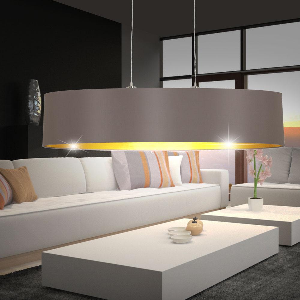 pendel decken h nge wand steh tisch lampe touch dimmer textil cappuccino gold ebay. Black Bedroom Furniture Sets. Home Design Ideas