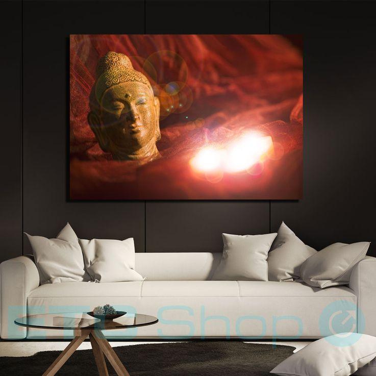 LED Mural Living Room Decoration Buddha Candles Motif Canvas Illuminated Eglo 75039 – Bild 2