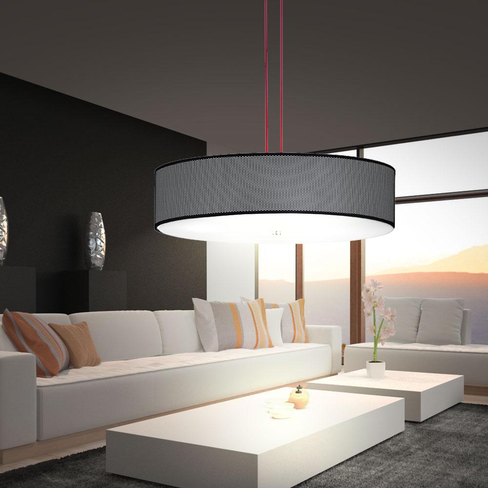 Rgb led lampe pendentif gradateur luminaire suspendu en for Gros luminaire suspendu