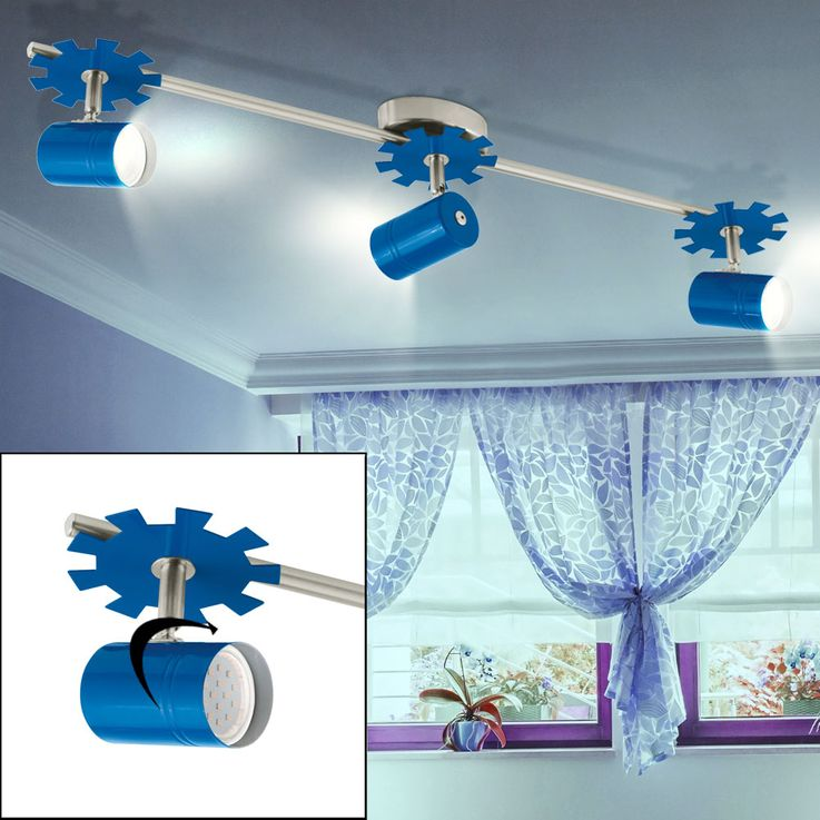 LED light swinging ceiling lamp boys children room light blue energy saving lamp Eglo 93144 – Bild 2