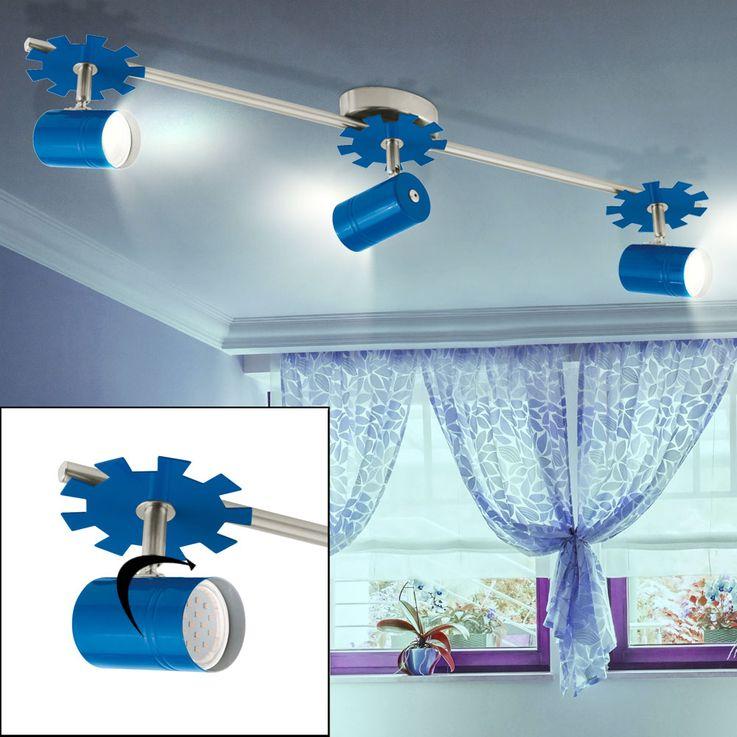 LED Decken Leuchte schwenkbar Lampe Jungen Kinder Zimmer Strahler blau Eglo 93144 – Bild 2