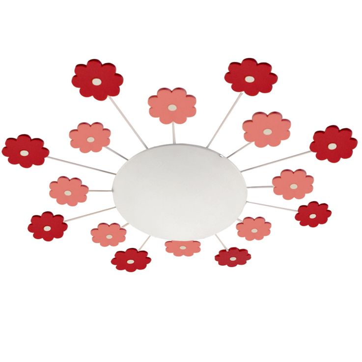 Children ceiling lamp pink play room luminaire glass wall light round Micasa 4203.651.000.38 – Bild 1