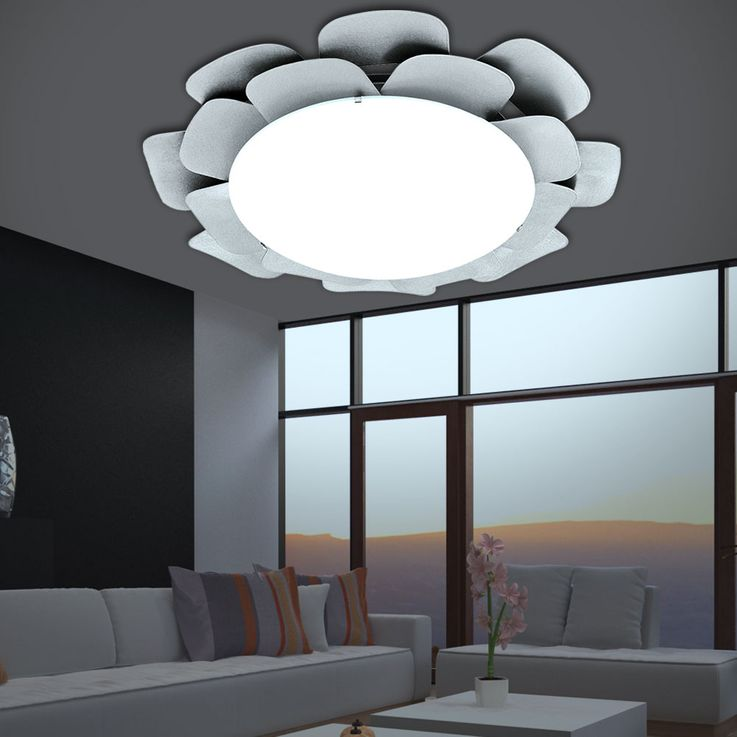 RGB LED ceiling and wall light in silver floral design – Bild 3