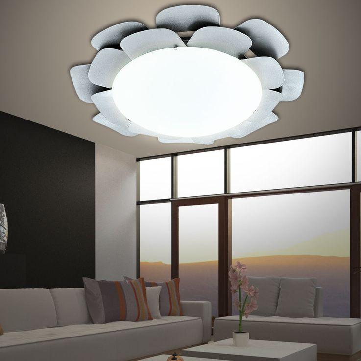 Plafond LED RGB et murale dans la conception florale d'argent – Bild 4