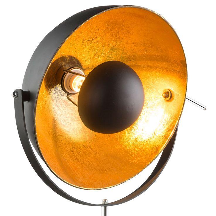 Luxus Steh Lampe Decken Fluter Scheinwerfer Wohnraum Beleuchtung goldfärbig Globo 58305 – Bild 4