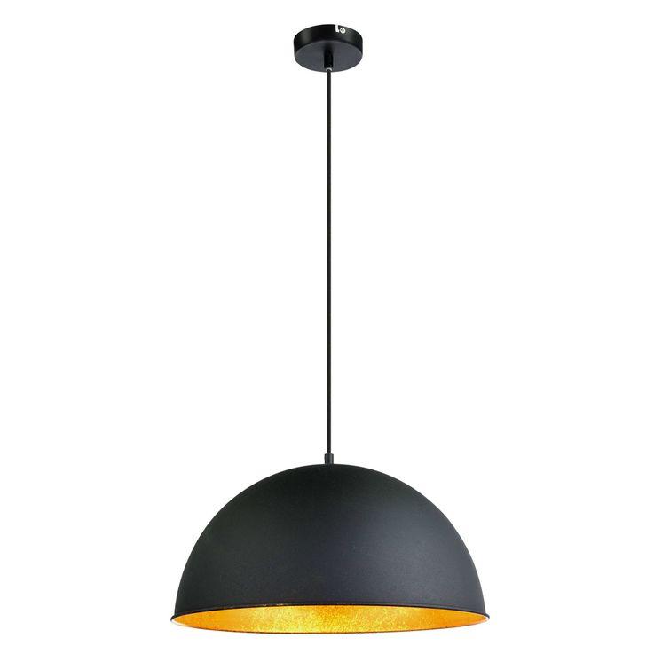High quality pendant lamp hanging lamp E27 lighting black gold spotlight round Globo 58305H – Bild 1